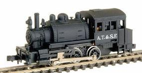 Life-Like 0-6-0T Saddle Tank Standard DC Santa Fe Black Model Train Steam N Scale #7781