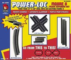 Life-Like Figure 8 Expander Set Power-Loc(TM) Steel Model Train Track HO Scale #8794