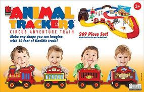 Life-Like Animal Trackers Circus Adventure Train Wooden Train Set #9105