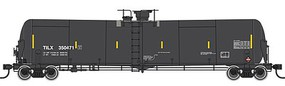 Life-Like-Proto 55 Trinity Modified 30,145-Gallon Tank Car - Ready to Run Trinity Industries Leasing TILX #2 (black, conspicuity marks)
