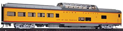 Life-Like PROTO 85' ACF Dome Lounge Union Pacific City of SF -- HO Scale Model Train Passenger Car -- #18700