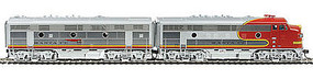 Life-Like-Proto EMD F7A-B Set 36 Dynamic Fan Santa Fe #300L HO Scale Model Train Diesel Locomotive #40900