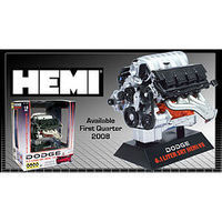 Lindberg DODGE HEMI 6.1 SRT Motor Assembled Plastic Model Engine Kit 1/6 Scale #11070