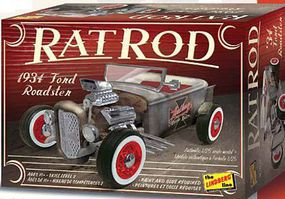 Lindberg 1932 Ford Roadster Rat Rod Plastic Model Car Kit 1/25 Scale #122