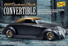 Lindberg 1937 Ford Custom Convertible Plastic Model Car Kit 1/24 Scale #129
