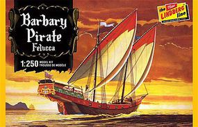 Lindberg Barbary Pirate Ship Plastic Model Sailing Ship Kit 1/250 Scale #205