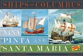 Lindberg Nina, Pinta & Santa Maria Sailing Ships (3 Kits) Plastic Model Sailing Ship Kit 1/144 #223