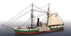 Lindberg Civil War Blockade Runner Military Boat Plastic Model Military Ship Kit 1/124 Scale #401