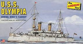 Lindberg USS Olympia Military Boat (Re-Issue) Plastic Model Military Ship Kit 1/240 Scale #402