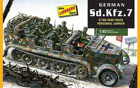 Lindberg German SdKfz7 8-Ton Halftrack Plastic Model Military Vehicle Kit 1/40 Scale #416