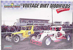 Lindberg Vintage Dirt Modifieds (2 Kits) Race Car Plastic Model Car Kit 1/24 Scale #603