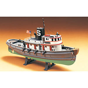 Lindberg Diesel Harbor Tug Boat -- Plastic Model Sailing Ship Kit -- 1/87 Scale -- #77221