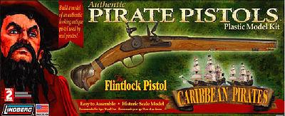Lindberg Flintlock Pistol Gun Pirate Plastic Model Kit #78001