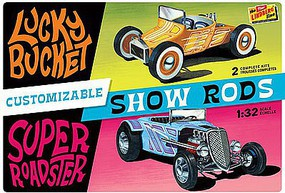 Lindberg Customizable Street Rod (2) Plastic Model Car Kit 1/32 Scale #hl136