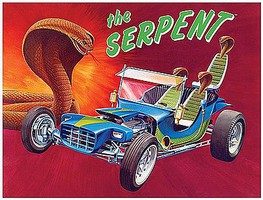 Lindberg Serpent Show Rod Plastic Model Car Kit 1/16 Scale #hl137-12