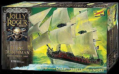 Lindberg Jolly Roger Series Flying Dutchman -- Plastic Model Sailing Ship Kit -- 1/130 Scale -- #hl218-12