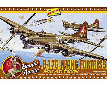 Lindberg B-17G Nose Art Edition -- Plastic Model Airplane Kit -- 1/64 Scale -- #hl431-12