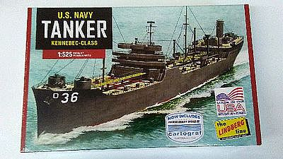 Lindberg Navy Tanker -- Plastic Model Military Ship Kit -- 1/520 Scale -- #hl438-12