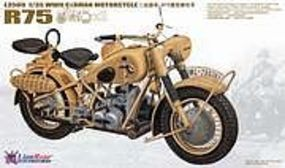 Lion-Roar 1/35 WWII German BMW R75 Motorcycle (2) (Plastic Kit)
