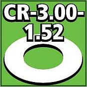 LOC Precision Cent. Ring 1/8 thk. 3.00od - 1.52id inch (2) -- Model Rocket Building Accessory -- #cr300152