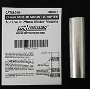 LOC Precision MMA-1 Motor Adapter for 29-24mm -- Model Rocket Building Accessory -- #mma1