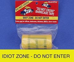 Loftus Idiot Zone Do Not Enter Barricade Prank Tape Novelty Toy #10031