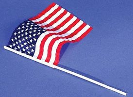 Loftus US Flag Small 6x9 nylon (6/pk) Miniature Flags #1445