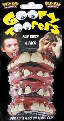 Loftus International Goofy Toofers Prank (4 Pack) -- Novelty Toy -- #90271