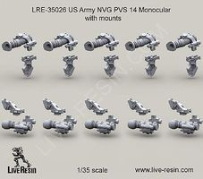 Live-Resin 1/35 US Army NVG PVS 14 Monocular Mounts (10)