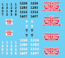 Lonestar Decal Sheet For Hill & Hill Truck Lines HO Scale Model Railroad Decal #12024