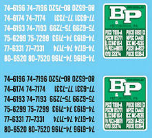 Lonestar Decal Sheet For B&P Motor Express HO Scale Model Railroad Decal #12030