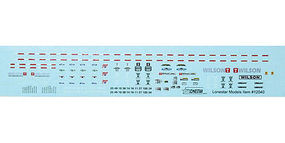 Lonestar Decal Set For Trailmobile 40 Flatbed Trailer HO Scale Model Railroad Decal #12041