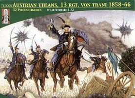 LuckyToys Austrian Uhlans 13th Regiment Von Trani (16 Mtd) Plastic Model Military Figure 1/72 #5