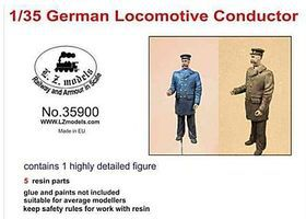 LZ German Locomotive Conductor (Resin) Resin Model Figure Kit 1/35 Scale #35900