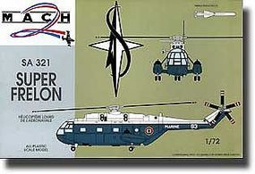 Mach2 SA321 Super Frelon Helicopter with Missiles Plastic Model Helicopter Kit 1/72 Scale #18