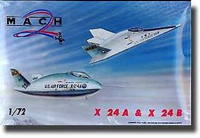 Mach2 X24A & X24B USAF Experimental Lifting Bodies Aircraft Plastic Model Airplane Kit 1/72 #26