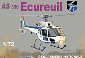Mach2 AS350 Squirrel Police French Helicopter Plastic Model Helicopter Kit 1/72 Scale #59