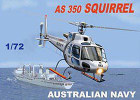 Mach2 AS350 Squirrel Australian Navy/Army Helicopter Plastic Model Helicopter Kit 1/72 Scale #60
