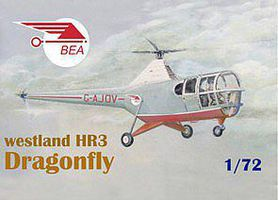 Mach2 Westland HR3 Dragonfly BEA Helicopter Plastic Model Helicopter Kit 1/72 Scale #62