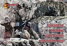 Mars WWII Japanese Infantry w/75mm Mountain Guns Plastic Model Military Figure 1/72 #72022
