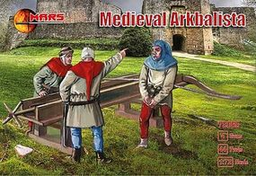 Mars Medieval Arkbalista (44) w/Guns (4) Plastic Model Military Figure 1/72 Scale #72065