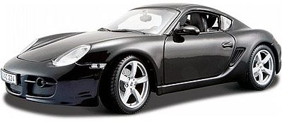 Maisto International Porsche Cayman S (Black) -- Diecast Model Car -- 1/18 Scale -- #31122blk