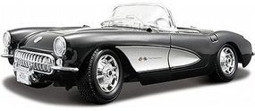 Maisto 1957 Corvette Convertible (Black) Diecast Model Car 1/18 Scale #31139blk