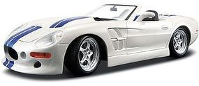 Maisto 1999 Shelby Series 1 Convertible (White w/Blue Stripe) Diecast Model Car 1/18 #31142wht