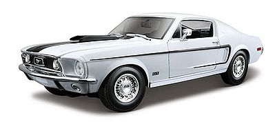 maisto international 1968 ford mustang gt cobra jet white diecast model car