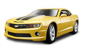 Maisto 2010 Camaro SS RS (Yellow) Diecast Model Car 1/24 Scale #31207ylw