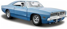 Maisto 1969 Dodge Charger (Met. Blue) Diecast Model Car 1/25 Scale #31256blu