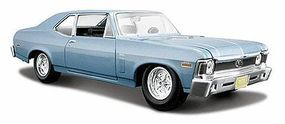 Maisto 1970 Chevy Nova SS Coupe (Met. Blue) Diecast Model Car 1/24 scale #31262blu