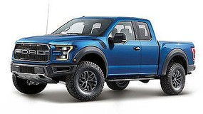 Maisto 1/24 2017 Ford F150 Raptor Pickup Truck (Blue)