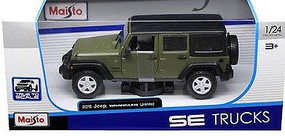 Maisto 1/24 2015 Jeep Wrangler Unlimited (Green)